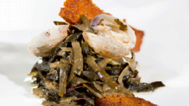 almejas con algas frescas gallegas